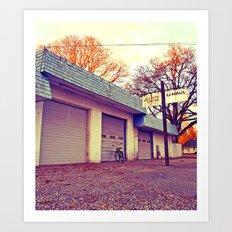 Vacant auto center Art Print