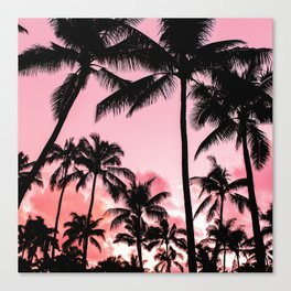 Tropical Trees Silhouette Canvas Print