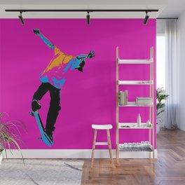 """Flipping the Deck"" Skateboarding Stunt Wall Mural"