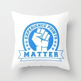 D20 Experience Points Matter Throw Pillow