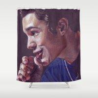 austin Shower Curtains featuring Austin Mahone by Kerri Dixon Art