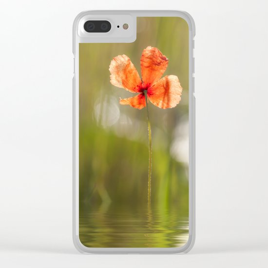 Swimming Poppyblossom Poppy Poppies Clear iPhone Case