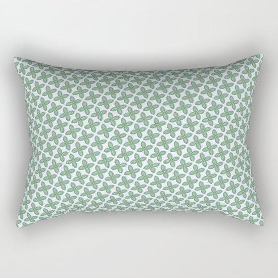 Mint Leaf Pattern Rectangular Pillow