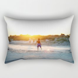 """Beach Play, Tybee Island, Georgia"" by Simple Stylings Rectangular Pillow"