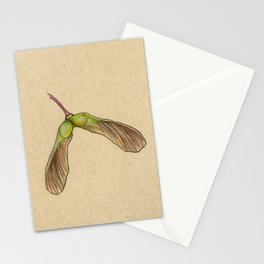 Maple Seed - Inktober 2019 #29 Stationery Cards