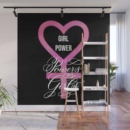 Girl Power Powers Girls (Dark) Wall Mural