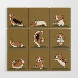 Beagle Yoga Wood Wall Art