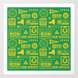 Run Upstate Art Print