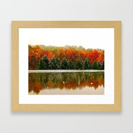 First Snow of the Season Framed Art Print