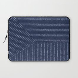 Lines / Navy Laptop Sleeve