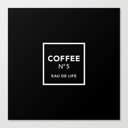 Black Coffee No5 Canvas Print