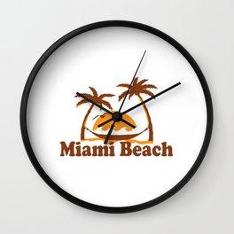 Miami Beach. Wall Clock
