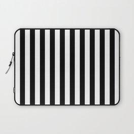 Large Black and White Cabana Stripe Laptop Sleeve