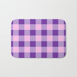 Purple and Pink Check Bath Mat
