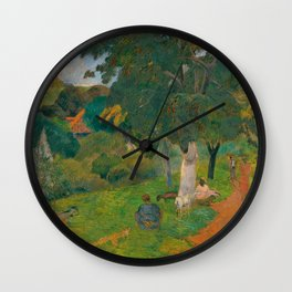 """Paul Gauguin """"Coming and Going, Martinique"""" Wall Clock"""