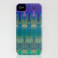 Tribal Diamonds Watercolour Blue Slim Case iPhone (4, 4s)