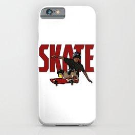 Skate olie a skateboard gift or skater gift for skateboarding or longboarder  iPhone Case