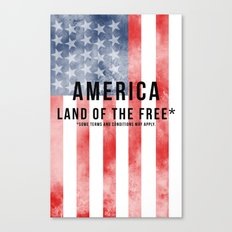 America: Land of the Free*  Canvas Print