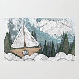 Paper Boat Rug