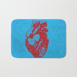 Binary heart Bath Mat