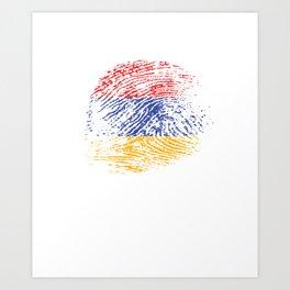 It's In My Dna Armenian Flag Vintage Armenia Gift Art Print