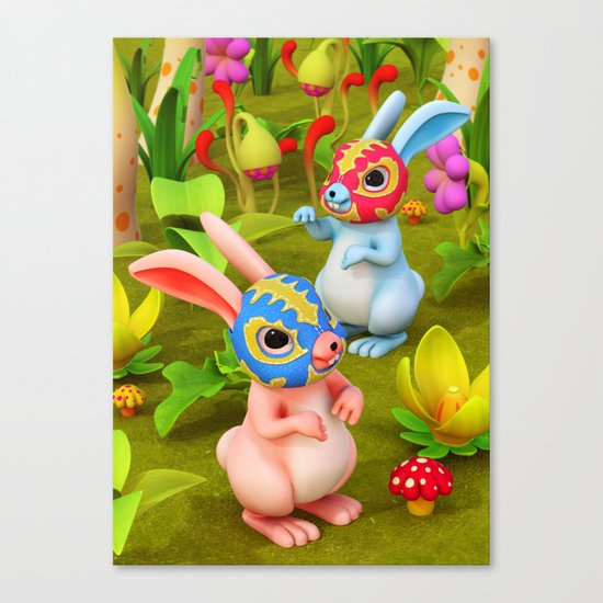Lucha Brothers Canvas Print