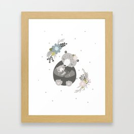 Animal hugs Design Framed Art Print