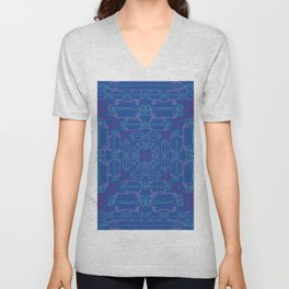 Pitcher Plants And Flowers Colorful Wireframes Unisex V-Neck