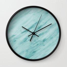 Audace Turchese green marble Wall Clock