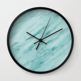 Audace Turchese green marble Wall Clock