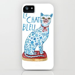 Le Chat Bleu iPhone Case