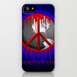 Peace and Freedom iPhone Case