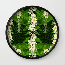 deep in the rainforest of leaves is rare liana flowers Wall Clock