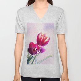 Happy Tulip Greetings Unisex V-Neck
