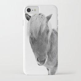 Black and White Icelandic Horse iPhone Case