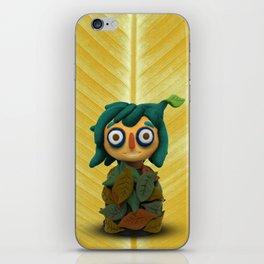 Leaf kid iPhone Skin