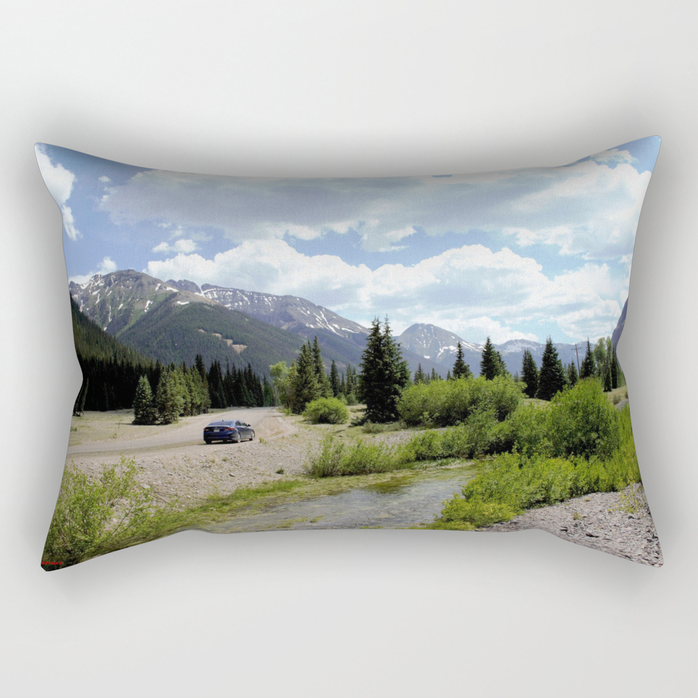 Following The Upper Animas River On The Alpine Loo… Rectangular Pillow RPW8334654
