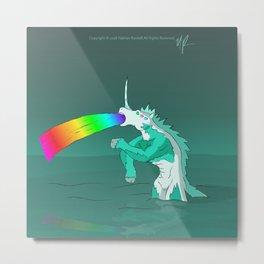 Rejected Kaiju #2 (Sea Horse or Unicorn or Seahorsicorn or whatever) Metal Print