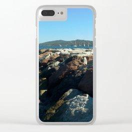 Breakwater opposite St. Tropez Clear iPhone Case
