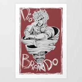 Dio Brando Art Print