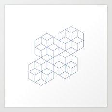 #339 Cubic dance – Geometry Daily Art Print