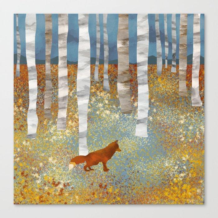 Autumn Fox Leinwanddruck