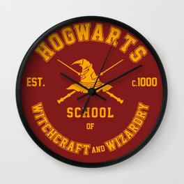 School of Witchcraft and Wizardry - Graduate Print Wall Clock