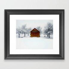 Cedar Snow Framed Art Print