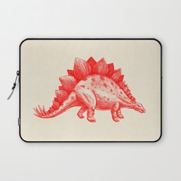 Red Stegosaurus  Laptop Sleeve