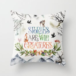 Stories Throw Pillow
