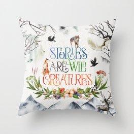 Stories Throw Pillow