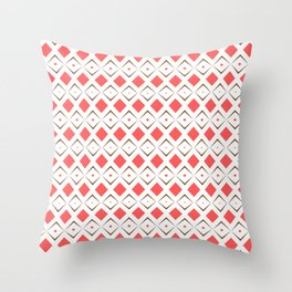 Chocolate Brown + Coral:  Pattern No. 6 Throw Pillow