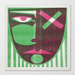 Two tone mask Canvas Print