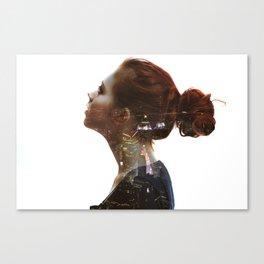 Head of city dreams Canvas Print